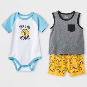 3/$25 Cat & Jack Tiger 'Roar' Outfit Set